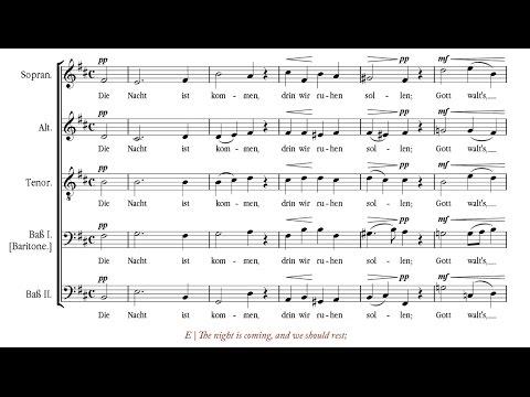 Reger | Nachtlied, Op. 138, n. 3 [á 5; Singer Pur]