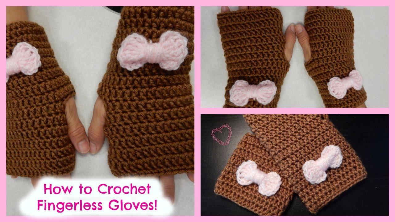 Fingerless Gloves Diy - How to crochet quick and easy fingerless gloves