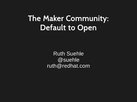 Ruth Suehle Keynote, Ohio Linux Fest 2014, Default to Open