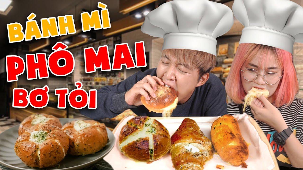 Vật vã làm 3 loại Bánh Mì Bơ Tỏi Phô Mai Hàn Quốc | MISTHY VÀO BẾP CÙNG WOOSSI