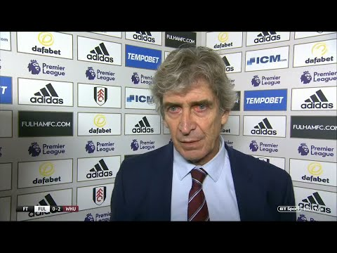 """""""West Ham are playing like a top-level side"""" Pellegrini speaks after fourth win in a row vs Fulham"""