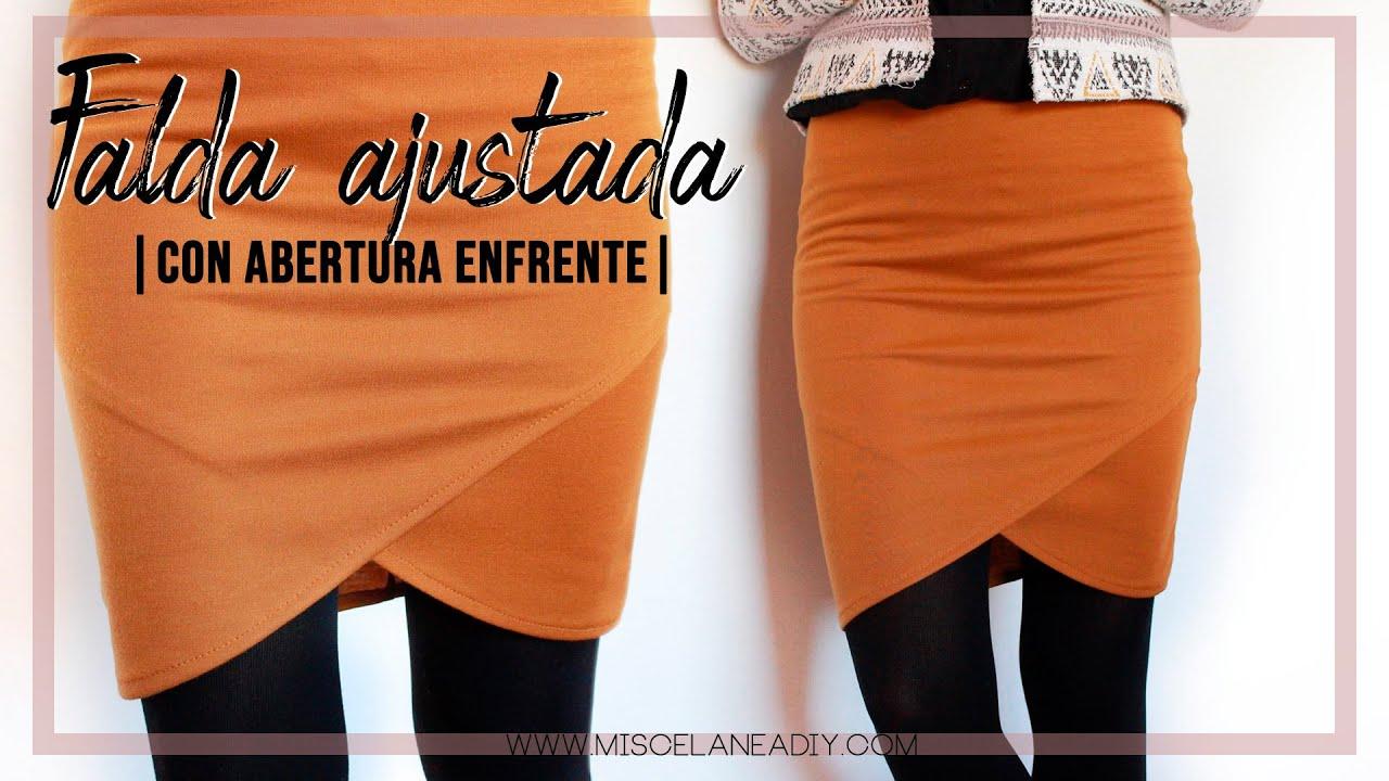 DIY FALDA   Cómo hacer una falda ajustada con detalle en ...