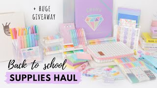 Back to School Supplies Haul & Giveaway ✏️  My new stationery faves!