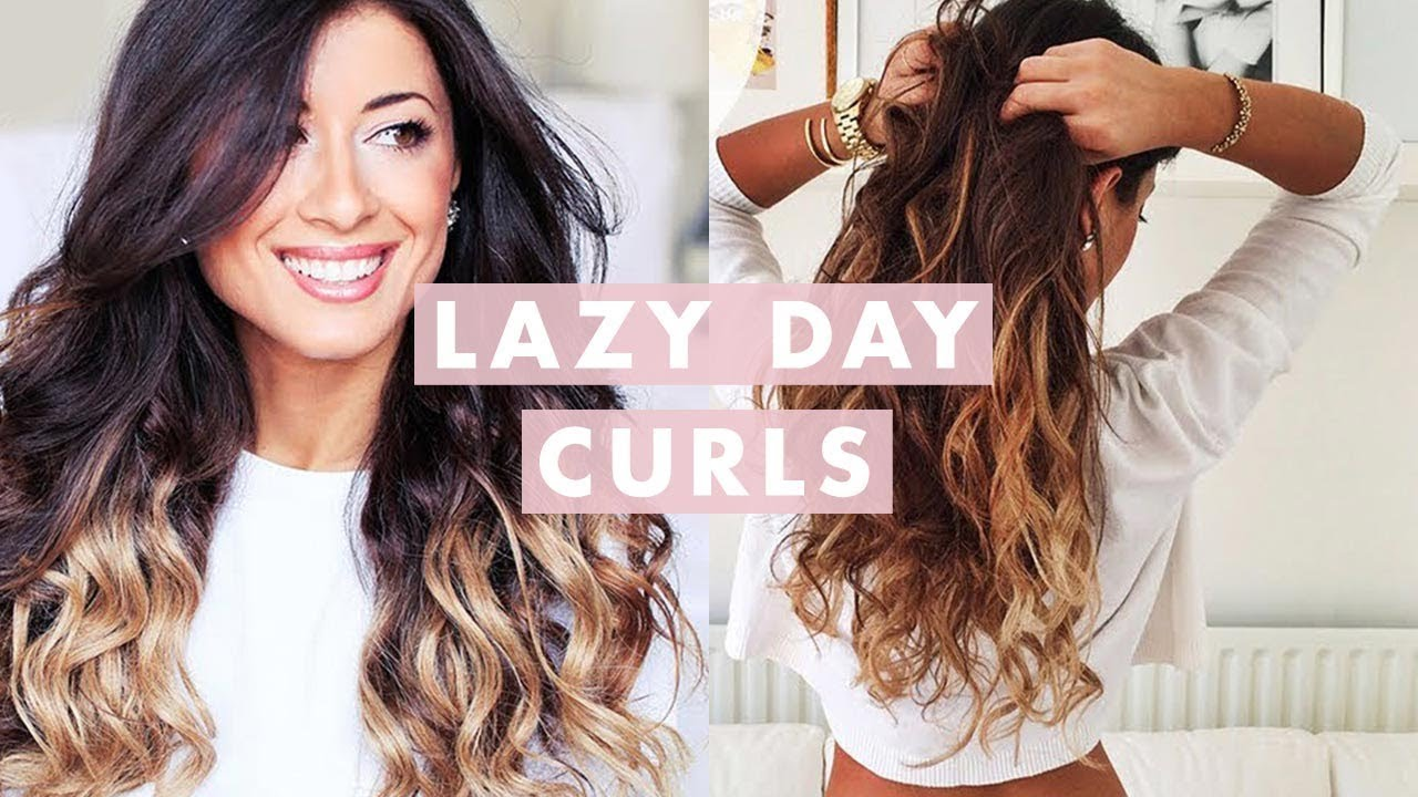 Lazy Curls For Lazy Days Heatless Youtube