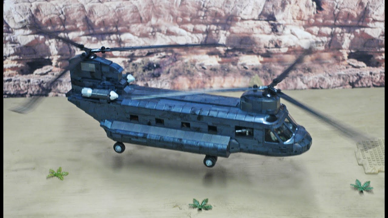 Ch 47 chinook call of duty mega bloks custom build by goodwill hunter