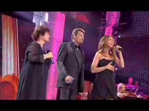 L'hymne à l'amour - Celine, Johnny and Maurane - June 9th 07