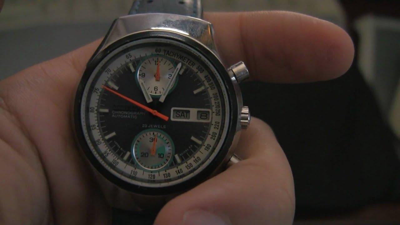 e577e62e3 Vintage Citizen 8110a Automatic Flyback Chronograph 28,800bph watch in  action