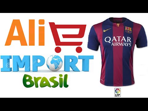 AliExpress Unboxing #09 - Camisas do Barcelona 2015 - Ali Import Brasil