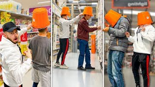 Secretly Putting Buckets On Strangers' Heads...