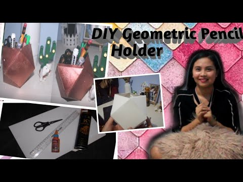 How to make a DIY Geometric Pencil Holder