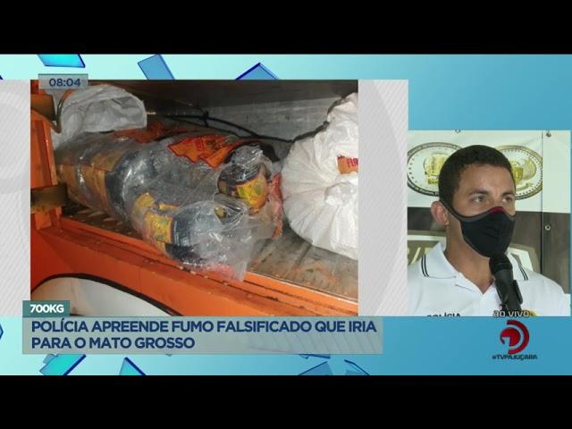 700 Kg: Policia apreende fumo falsificado que iria para o Mato Grosso