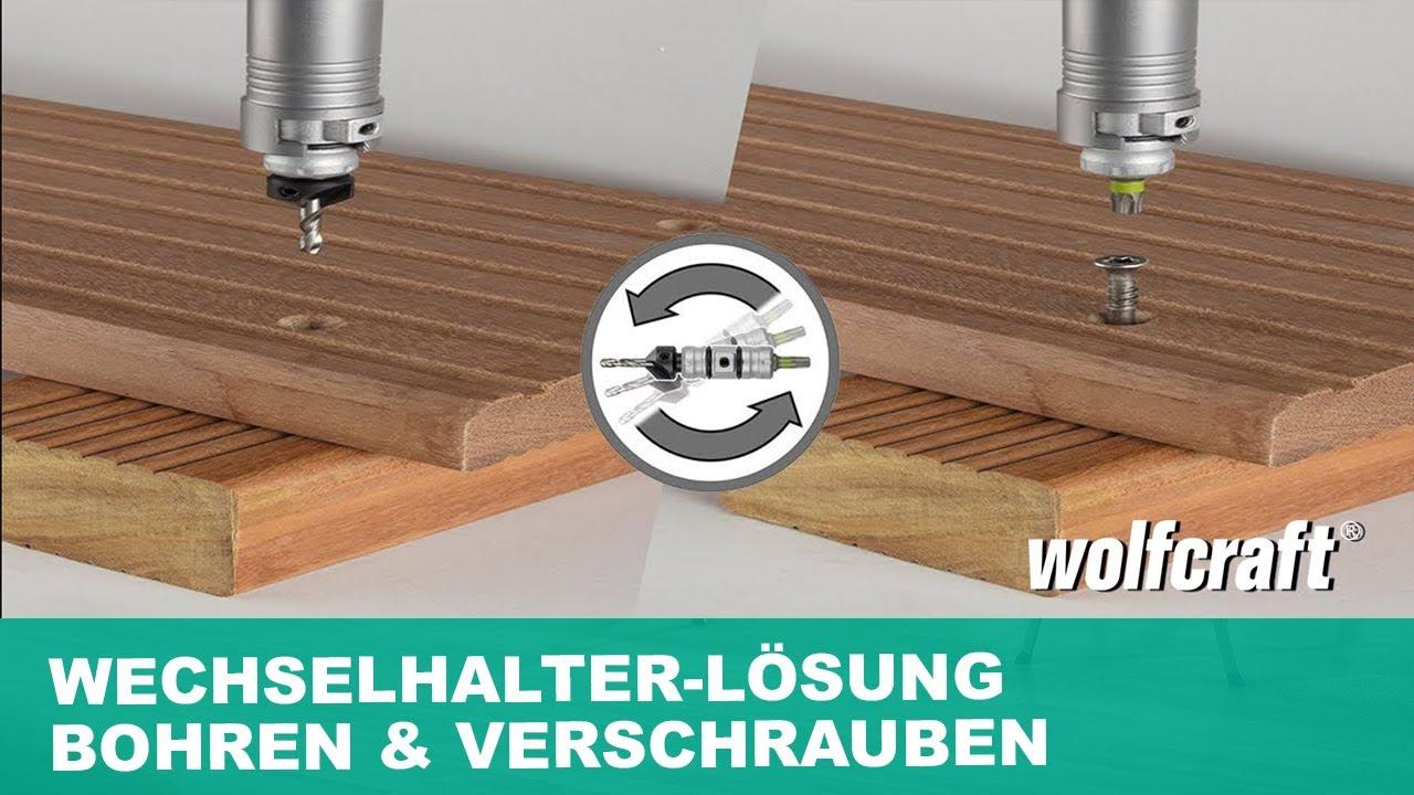 Wolfcraft Qualitat Hohlbohrkrone mit Spanndorn SDS-Plus Hammerschlagfest NEU