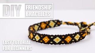 DIY Diamonds & Dots Friendship Bracelets  | Easy Tutorial for Beginners