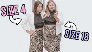 Size 4 & Size 18 Try On the Same Outfits!