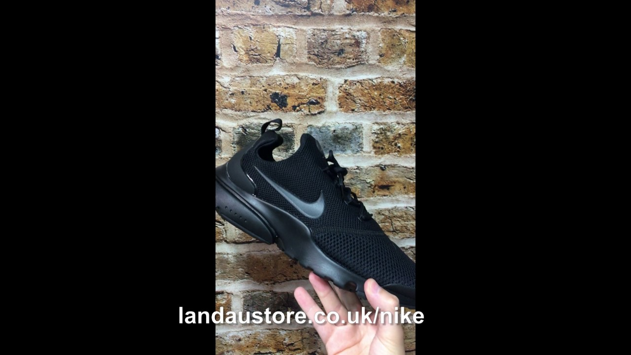 362ba535724d NIKE SHOES MENS PRESTO FLY BLACK - YouTube