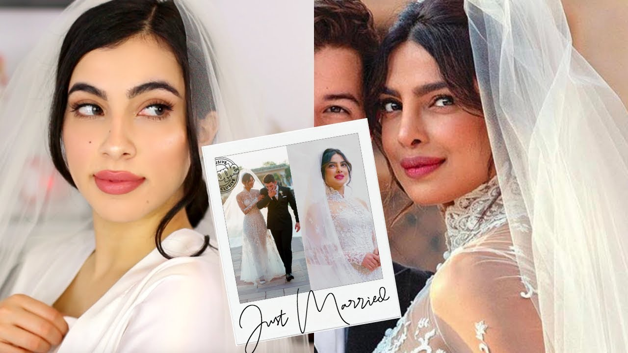 Priyanka Chopra Western Wedding Makeup Ralph Lauren Wedding Dress Look Youtube