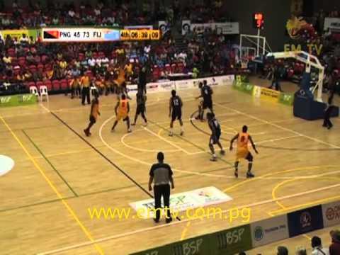 Men's Basketball Highlights - PNG vs Fiji | XV Pacific Games Day #9 #EMTVPacGames