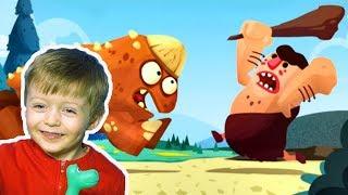 Игра про Динозавров для Детей Защищаем Яйцо от Траглодитов #7  Мультик про Динозавров Lion boy