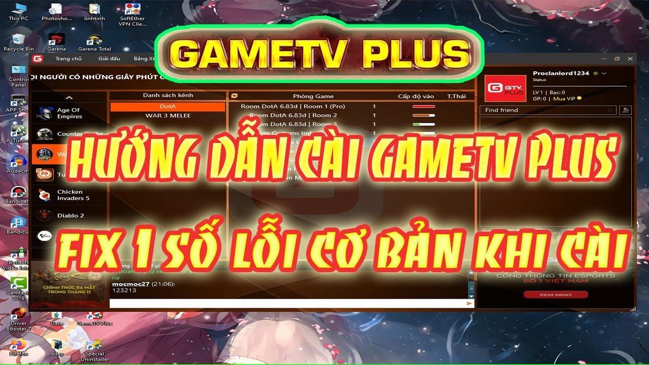 Lan Game Sập chuyển sang GameTV Plus Chơi DDay, DOta, AOE - Fix 1 số lỗi cơ bản khi cài.