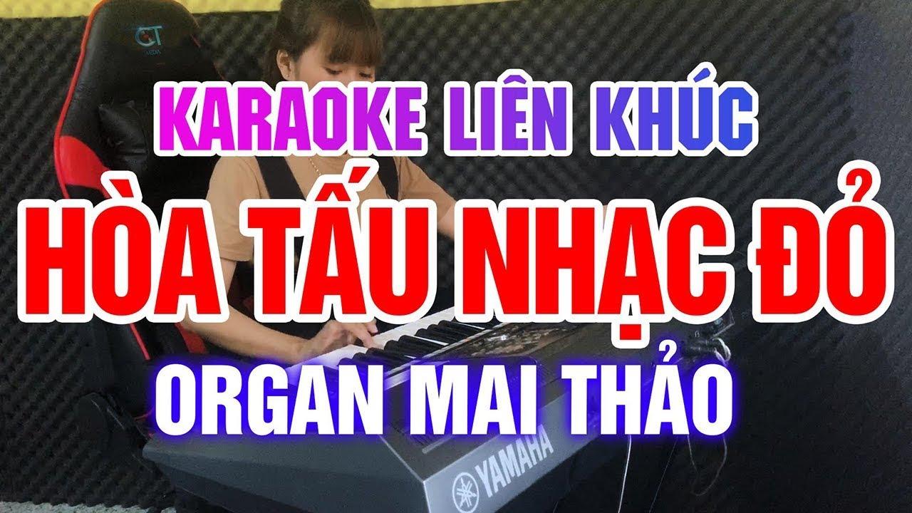 KARAOKE Liên Khúc Nhạc Sống Hòa Tấu Nhạc Cách Mạng Cha Cha Cha Chào Mừng 30/4 | Nữ Organ Mai Thảo
