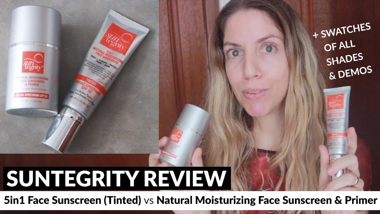 Suntegrity Sunscreen Reviews: 5 in 1 Face Sunscreen vs Natural Moisturizing Face Sunscreen & Primer