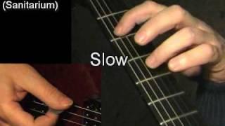 Welcome Home (Sanitarium), Metallica - guitar lesson & TAB! learn to play classic rock metal riffs