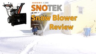 Sno-Tek 2 Stage Gas Snow Blower Review (24
