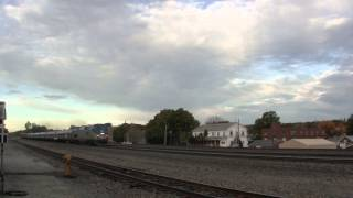 Amtrak Pennsylvanian train 43 07T with 3 Juniata Terminal cars Cresson, PA 10 9 14