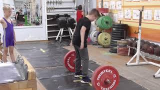 Николаев Роман, 9 лет, вк 41 Тяга рыв  без полрыва 15 кг Новичок