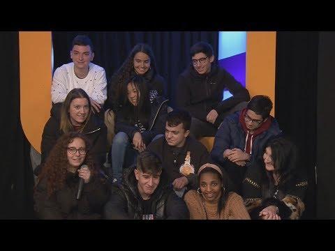 Alumnos de 4º de Eso de Monforte graban un informativo de televisión