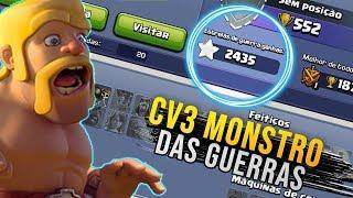 CV3 MONSTRO COM MAIS DE 2000 ESTRELAS DE GUERRA NO CLASH OF CLANS