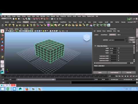 Maya 2014 tutorial : How to render your wireframe in Maya