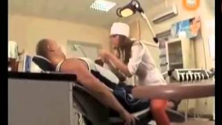 Sexy Dentist Riding on Patients Prank / Funny Candid Camera