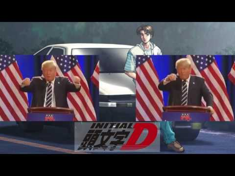 Donald Trump sings Rage your dream (Initial D ending)