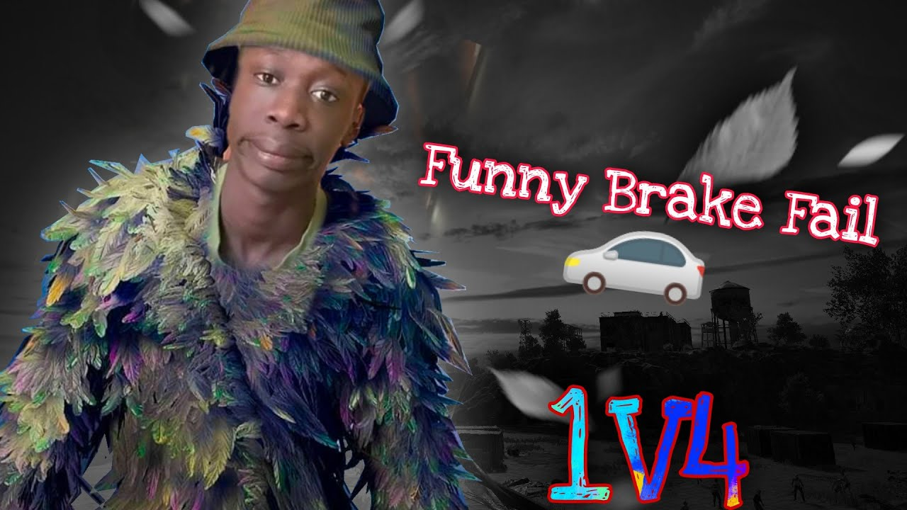 Funny Car Brake Fail 1v4 BGMI