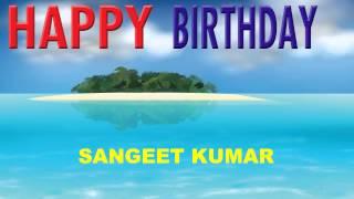 Sangeet Kumar   Card Tarjeta - Happy Birthday