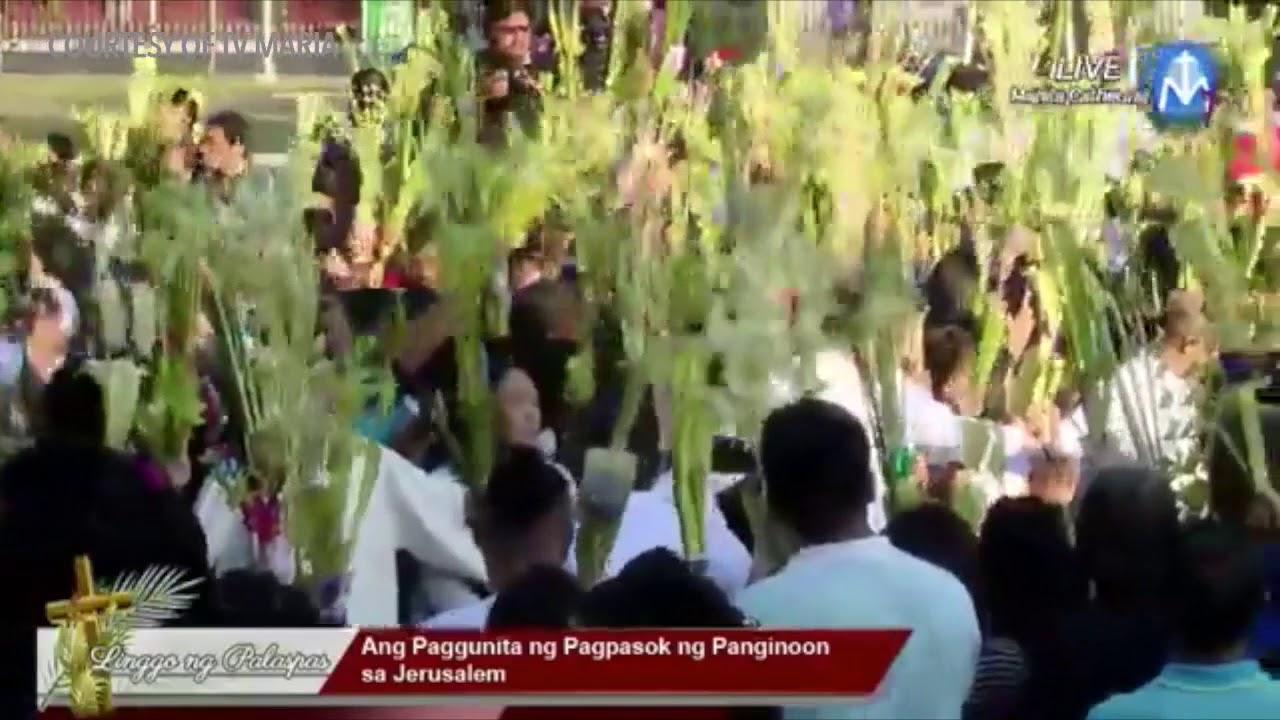 Cardinal Tagle blesses palms on Palm Sunday 2018