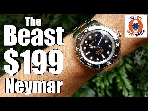 74bbff99f Chunky but Funky - Neymar 1000 Dive Watch - YouTube