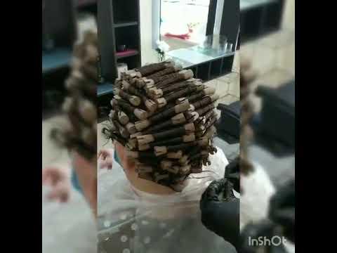 Как творится биозавивка салон красоты La Familia Salon семейная парикмахерская Гагарина 11 Бровары