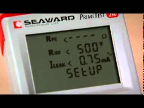 Seaward PrimeTest 250 PAT Tester - Product Demonstration