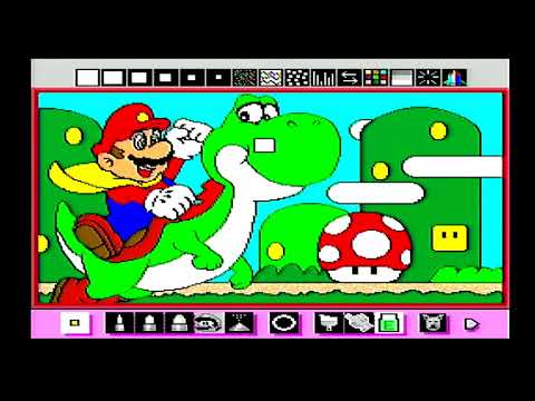 Let's Mario Paint: Coloring Book, Animations, Piano, & Fly Game