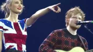 Taylor Swift with Ed Sheeran, Lego House, Red Tour London O2 Feb 1st 2014