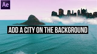 Video arka Plan (After Effects)bir Şehir Ekleme