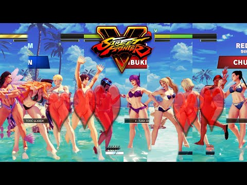 Street Fighter V AE Menat/Sakura/Kolin/Poison/Laura vs Ibuki/Juri/Cammy/R. Mika/Chun Li PC Mod