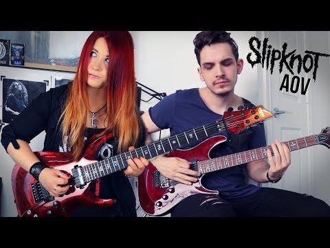 SLIPKNOT - AOV [GUITAR COVER] | Jassy J & Nik Nocturnal