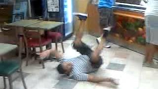 Drunk in subway 2012