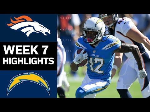 Broncos vs. Chargers | NFL Week 7 Game Highlights