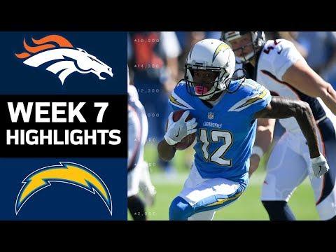 Broncos vs. Chargers | NFL Week 7 Game Highlights