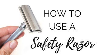 How To Use A SAFETY RAZOR   Legs & Under Arm Demo   Zero waste/Low Impact Movement