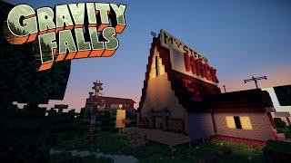 Gravity Falls Mystery Shack Minecraft Timelapse!
